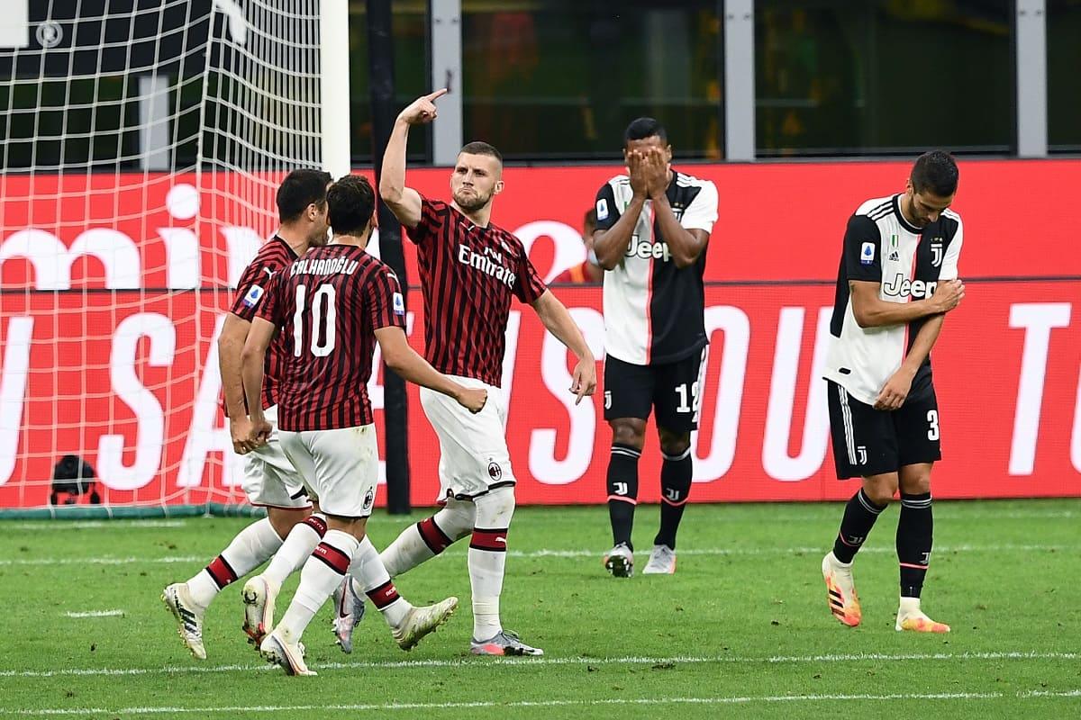 Rebic Milan-Juventus